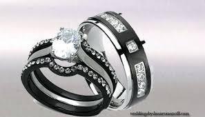 titanium wedding ring sets titanium wedding ring sets for him and combations black