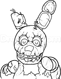 fnaf mangle coloring pages how to draw springtrap from five nights at freddys 3 step 11 how