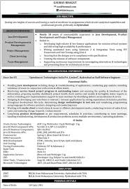 inspiring 1 year experience resume format for java developer 18
