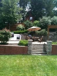 Landscaping Ideas For Sloped Backyard Landscape Designs For Sloped Backyards Sloped Backyard Sloping