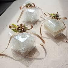 creative wedding presents free shipping 6x6x6cm candy chagne creative wedding gift box