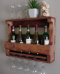 rustic wine cabinets furniture reclaimed wood rustic wine rack glass holder with shelf in dark