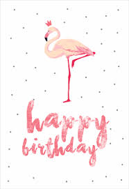 flamingo birthday free printable birthday card