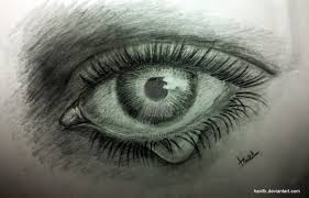 eye with teardrop by hanitk on deviantart