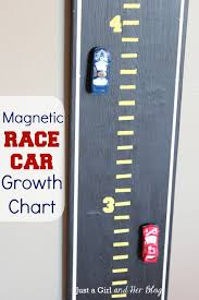 Car Room Decor Magnetic Race Car Growth Chart Just A And