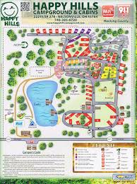 Wisconsin Campgrounds Map by Hocking Hills Campground Cabin Campers And Tents With Fishing