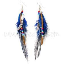 one side feather earring feather earrings diy i