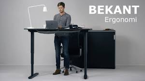 Stand Sit Desks by The New Ikea Bekant Sit Stand Desk Can Be Adjusted With The Push