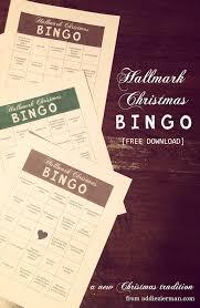 hallmark christmas movie bingo christmas winter pinterest