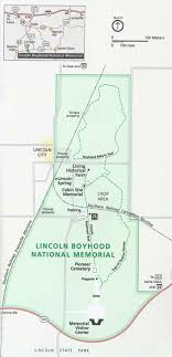 lincoln city map maps lincoln boyhood national memorial u s national park service