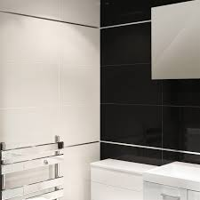 Black Bathroom Tiles Ideas 60cm X 30cm Absolute Black Polished Wall Floor Tile Box Of 8