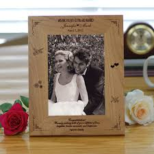 personalized wedding photo frame wood personalized wedding picture frame picture frames