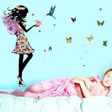 online get cheap butterfly kids room aliexpress com alibaba group diy wall stickers fairies girl elves butterfly flowers art home mural kids rooms vinyl decal decoration