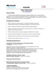 Best Resume For Network Engineer Network System Engineer 2016 Resume