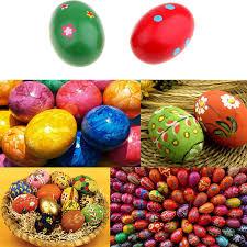 easter plays for children 5pcs set children toys diy creative simulation wooden easter eggs
