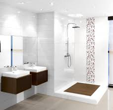 bathroom feature tile ideas i like the contrasting timber look on the shower floor with the