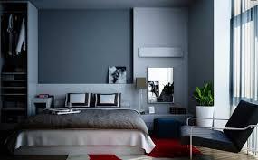 peinture mur chambre coucher decoration peinture murale gris anthracite chambre coucher moderne