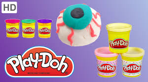make your own halloween play doh eyeball youtube