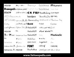 tattoo fonts for women 2015