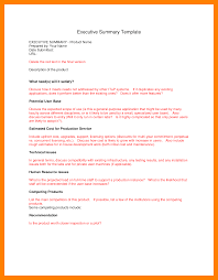 8 project executive summary template format of notice