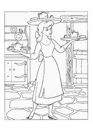 coloring pictures of cinderella working at home coloring pages