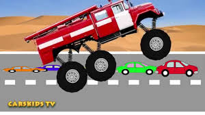 kids monster truck videos monster fire truck mega crushing сartoons u0026 toy for kids