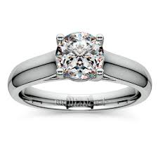 trellis solitaire engagement ring in palladium