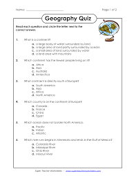 Worksheets For Geography 10 Best Images Of North America Geography Worksheets North
