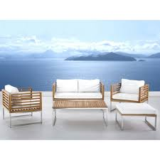 Teak And Stainless Steel Outdoor Furniture by Garden Furniture Set Stainless Steel Teak Bermuda Umuace