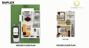 Duplex Floor Plan by Citrineland Corporation Cebu Real Estate Developer