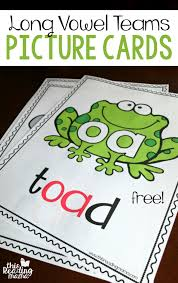 vowel teams long vowel picture cards spelling patterns