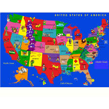 Map Of The United States For Children by Area Rug Kids Roselawnlutheran