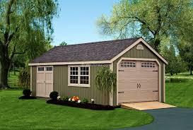 Backyard Garage Designs New England Garages Amish Mike Amish Sheds Amish Barns Sheds