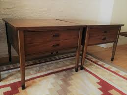 american of martinsville desk mid century modern end tables with drawer by american of