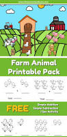 farm animal addition and subtraction worksheets the moments at home