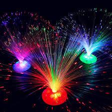 glow party supplies 2018 optic fiber flower luminous sky light