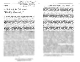 a sketch of the policeman u0027s working personality skolnick pdf