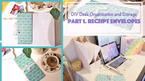 diy accordion book receipt envelopes desk organization and