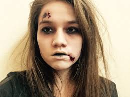 easy wounded zombie halloween makeup you can do with products you