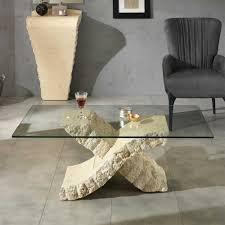 wohnzimmer glastisch glastisch scarperion für wohnzimmer mit stein pharao24 de
