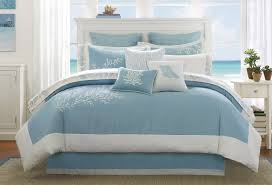 bedroom nice blue and white bedroom design with ocean coral