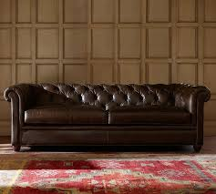 Pottery Barn Leather Chair Living Room Interior Chesterfield Couch And Distressed Leather