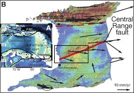 Trinidad Map Prehistoric Earthquakes On The Caribbean U2013south American Plate