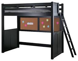 eberhardt twin size college loft bed black transitional loft