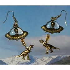 dinosaur earrings abduction of dinosaur earrings ufo extraterrestrial f