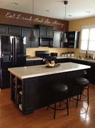 black appliances with black cabinents