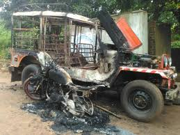 indian police jeep maoists kill sarpanch in odisha village suspecting him to be