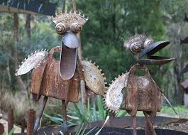 recycled metal garden ornaments recycled junk waste