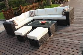 Outdoor Rattan Corner Sofa 8 Seater Outdoor Rattan Corner Sofa Set 2 Colours