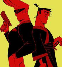 samurai jack johnny bravo and evil samurai jack cartoon cartoons pinterest